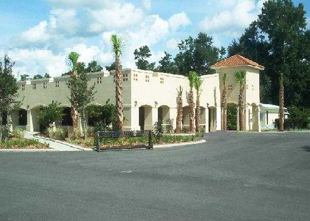 A view of the clubhouse at Lake Jonesco Golf Course
