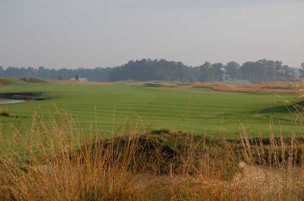 A view back from green #5 at Chariot Run