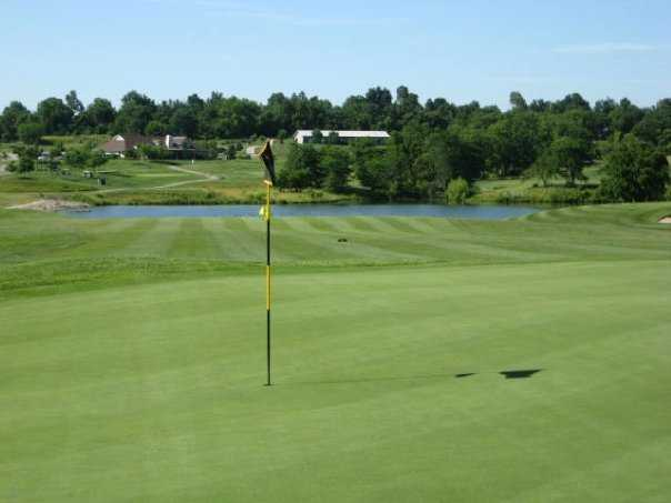 A view of green from Championship Course at Drumm Farm Golf Club