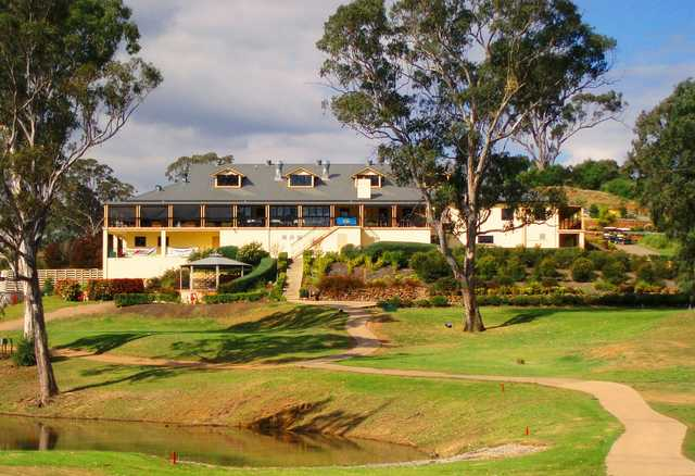A view of the clubhouse at Macarthur Grange Country Club