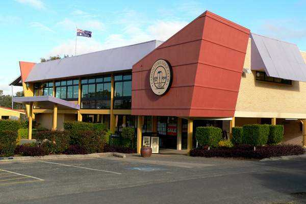 A view of the clubhouse at Caboolture Golf Club