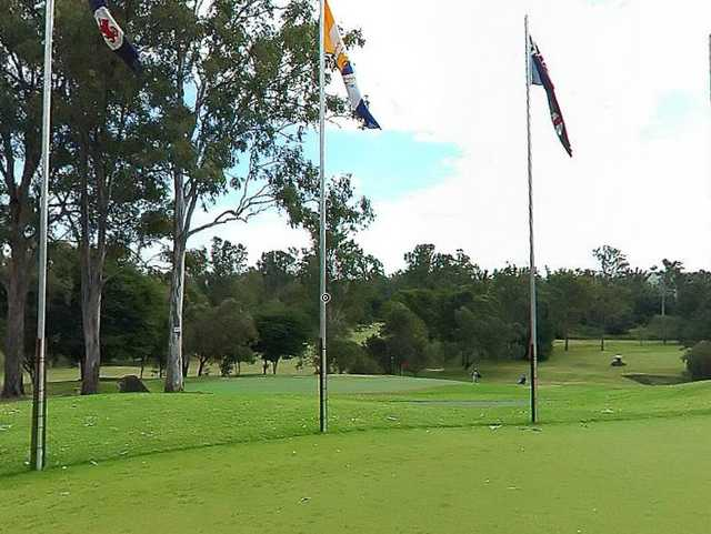 A view from the clubhouse at Keperra Golf Club