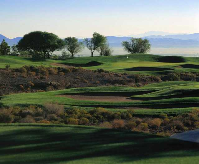 View of a green  at TPC Las Vegas