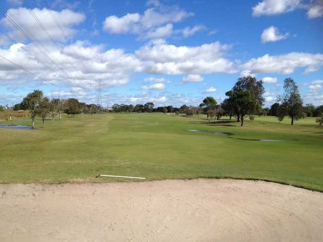 A view of the 8th hole at Brook Course from Nudgee Golf Club