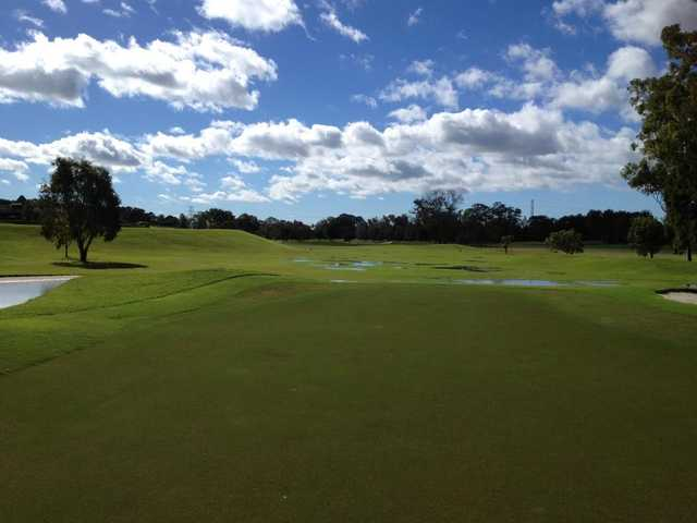A view of fairway #1 at Bay Course from Nudgee Golf Club