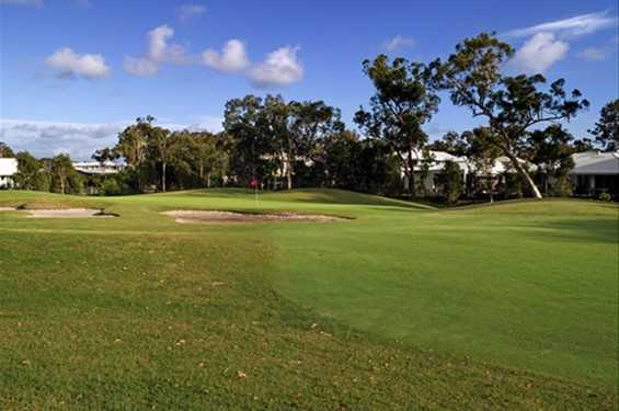 A view of the 16th green at Peregian Springs Golf Club