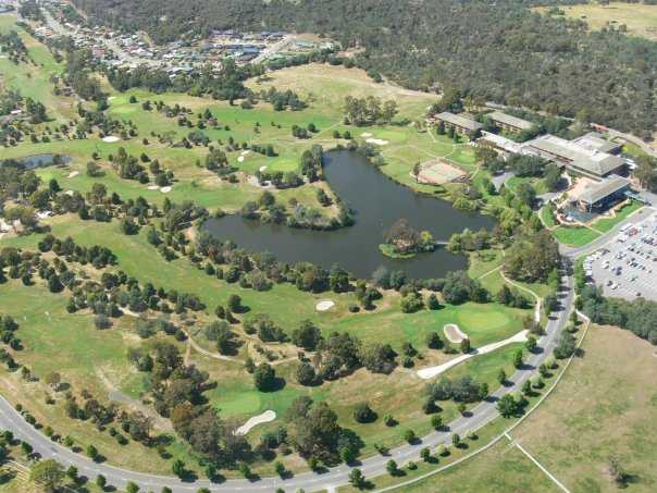 Aerial view from Country Club Tasmania