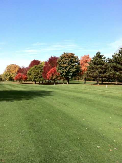 A view of fairway #15 at Johnson Park Golf Course