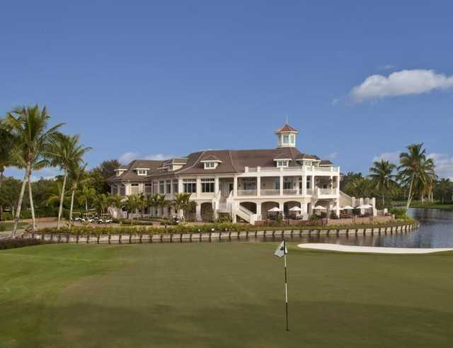 A view of the clubhouse at Bay Colony Golf Club