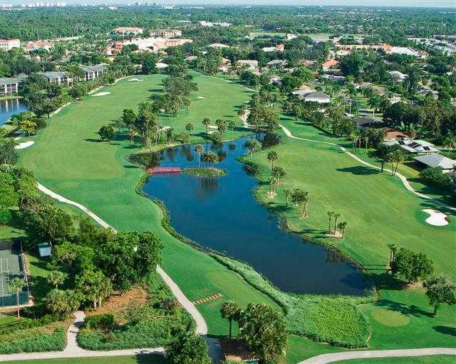 Aerial view from Country Club of Naples
