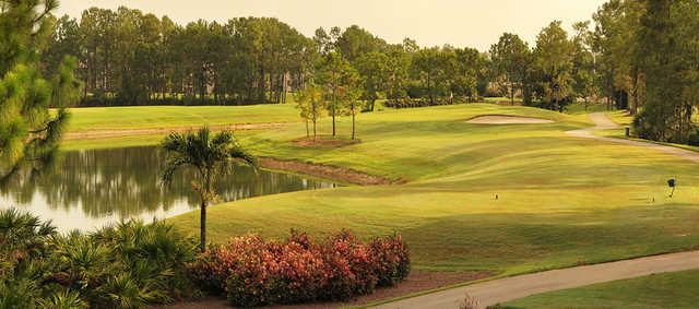A view of a tee at Countryside Golf Club.