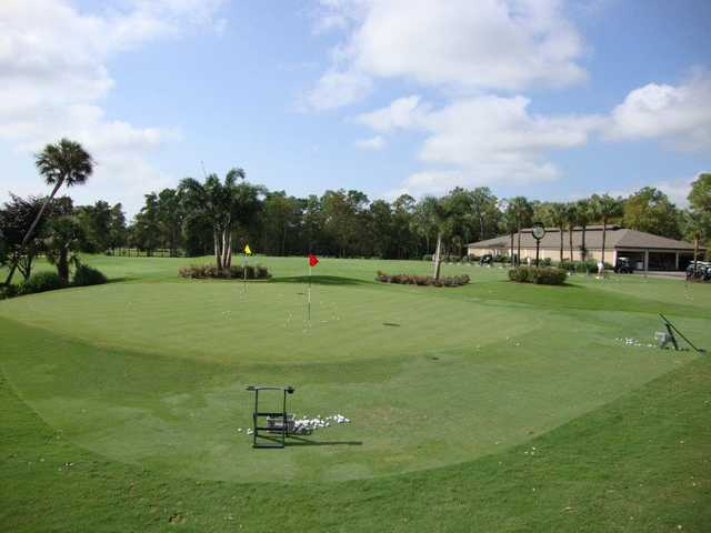 A view of the practice area at Wyndemere Country Club
