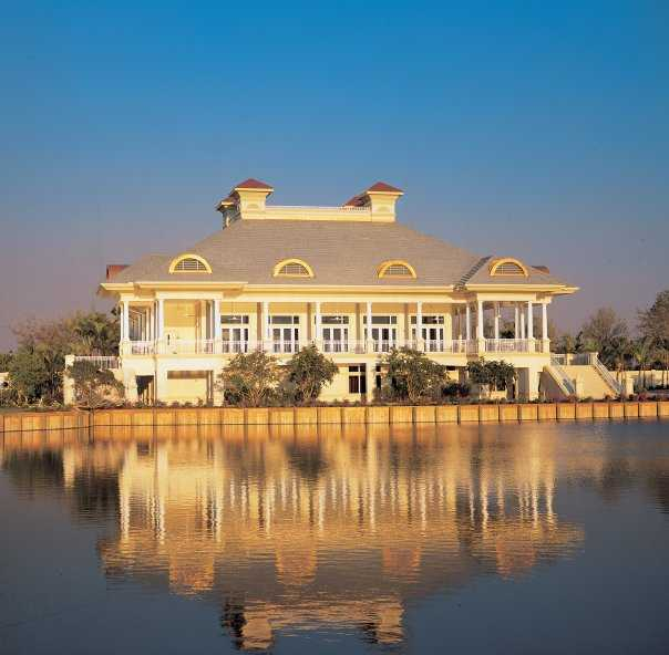 A view of the clubhouse at Estuary Golf Course from Grey Oaks Country Club