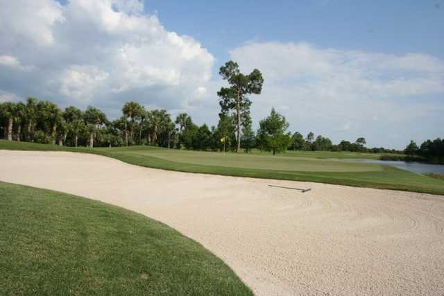 A view of green #5 at Olde Florida Golf Club
