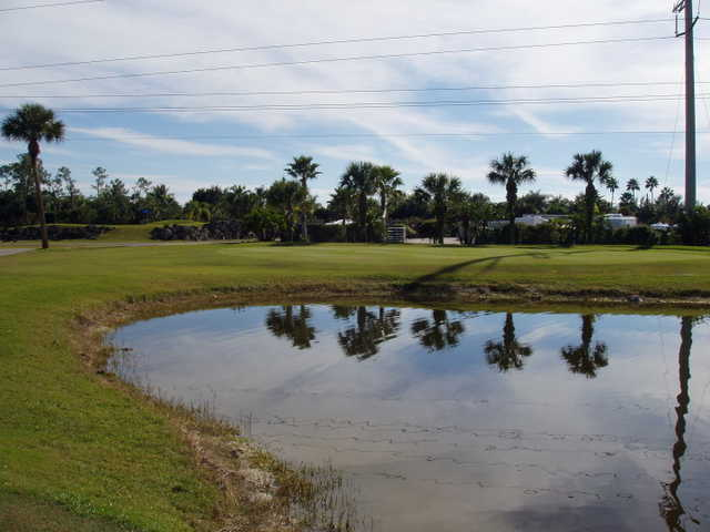 A view from Silver Lakes RV Resort & Golf Club.