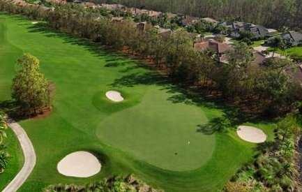 Aerial view of the 6th hole from The Club At Olde Cypress