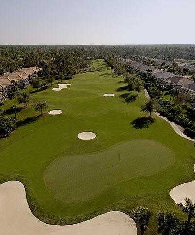 Aerial view of green #7 at Vanderbilt Country Club