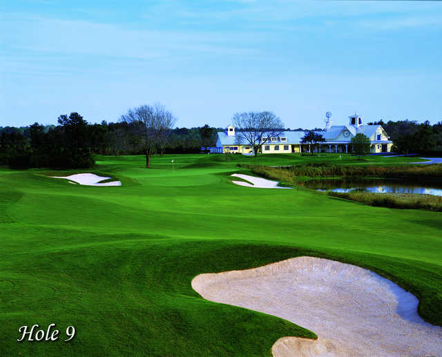 Celebration's clubhouse - view from the 9th hole