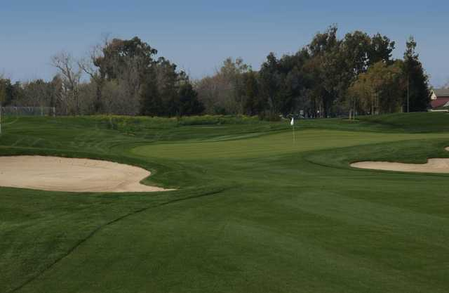 A view from fairway at Los Lagos Golf Course