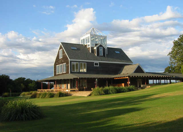 A view of the clubhouse at Prairie Oaks Ranch