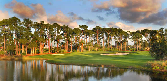 A view of the 8th green at Champion from PGA National Resort & Spa.