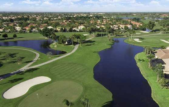 A view of green #13 at Fazio course from PGA National Resort & Spa