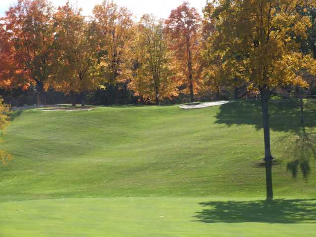 A fall view of fairway #7 at Kent Country Club