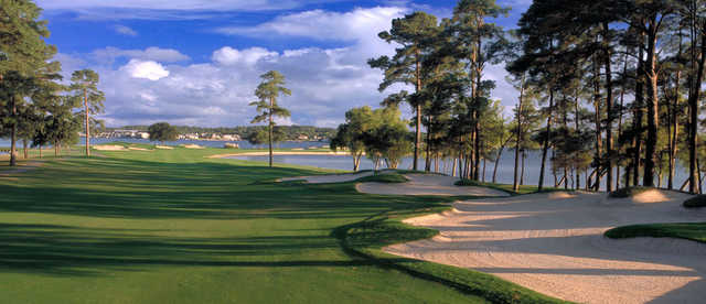A view of fairway #11 at Walden on Lake Conroe Golf & Country Club