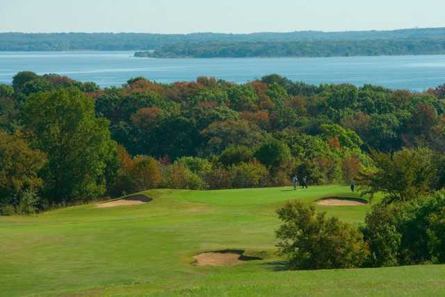 A view of the 10th green at Chickasaw Pointe Golf Club