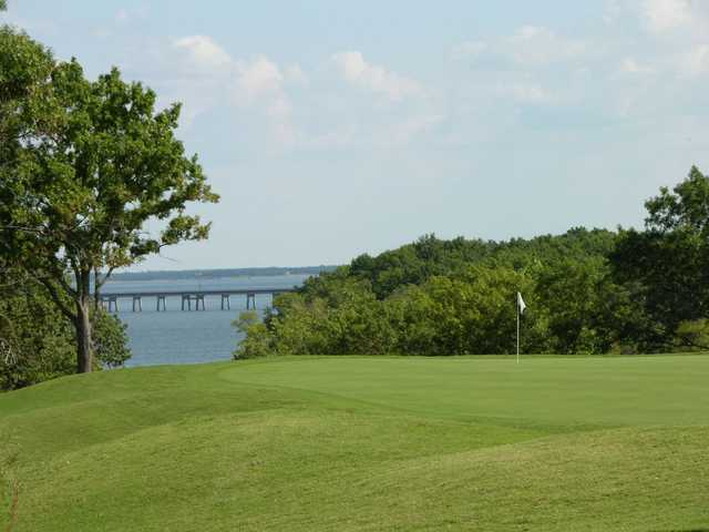 A view of hole #12 at Chickasaw Pointe Golf Club