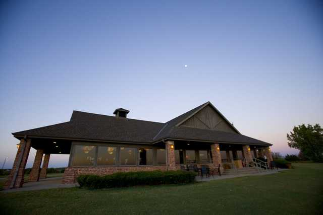 A view of the clubhouse at Chickasaw Pointe Golf Club
