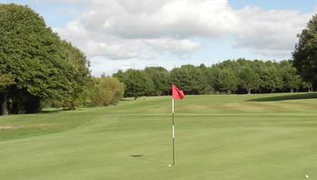A view of a green at Prestwick St Cuthbert Golf Club