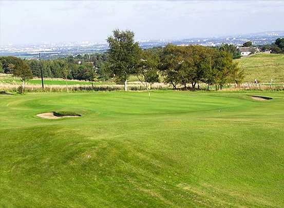 A view of the 15th green at Ranfurly Castle Golf Club
