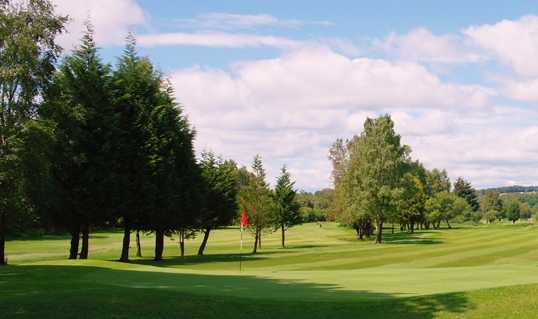 A view of the 18th green at Dumbarton Golf Club