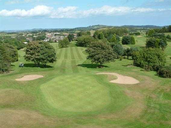 A view of the 1st green at St. Patrick's Golf Club