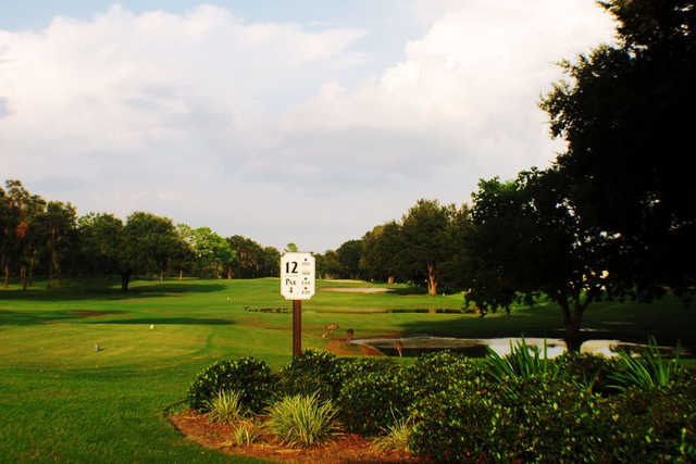 A view of tee #12 at Miona Lake Golf Club