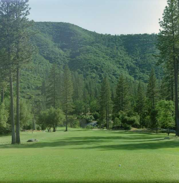A view from tee at River Creek Golf Course
