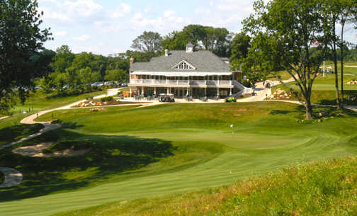 A view of the clubhouse from The Golf Course At Glen Mills
