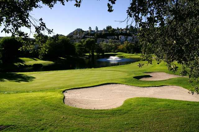 A view of green #12 at San Vicente Golf Resort.
