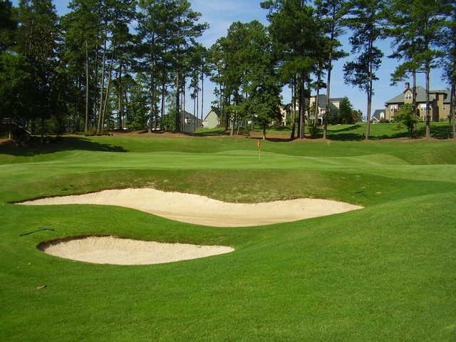 A view of green #13 at Ashton Hills Golf Club