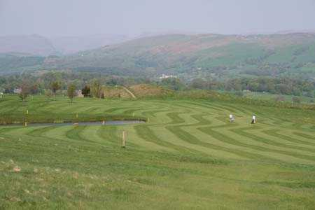 A view of fairway at Kendal Golf Club