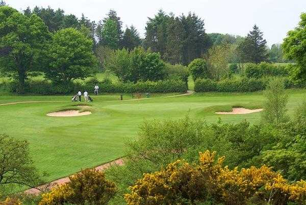 A view of green #6 at Workington Golf Club