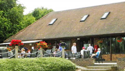 A view of the clubhouse at Breedon Priory Golf Centre