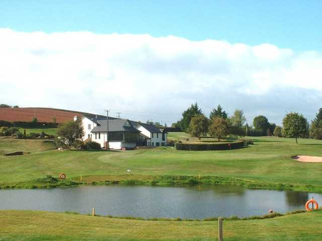 A view of the clubhouse at Downes Crediton Golf Club