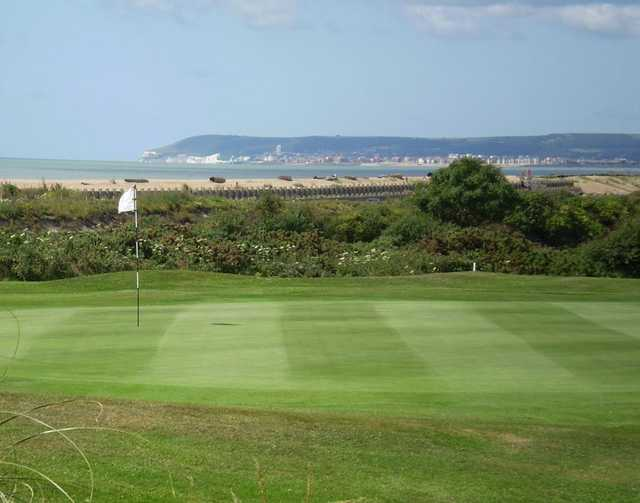 A view of the 15th hole at Cooden Beach Golf Club