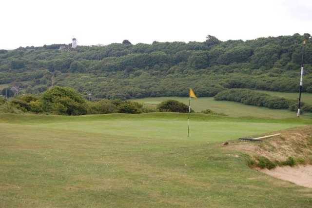 Green with stunning backdrop at Waterhall Golf Club.