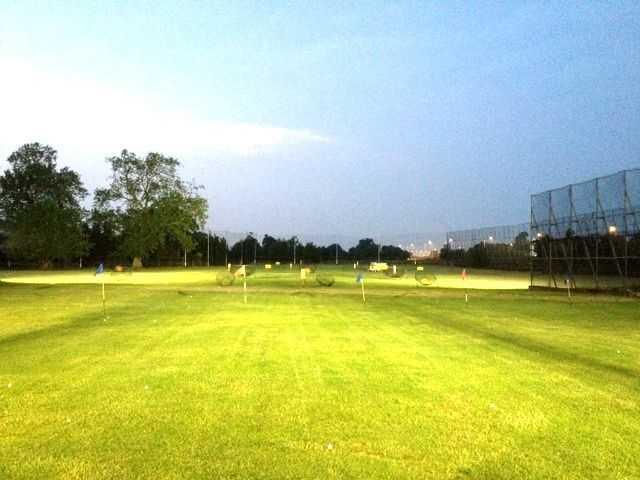 Expansive driving range at Belhus Park