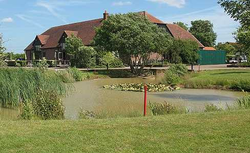 A view of the clubhouse at Nazeing Golf Club