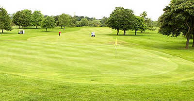 A view of the 2nd hole at Forest of Dean Golf Club
