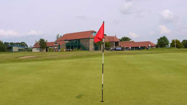 A view of the clubhouse at Thornbury Golf Centre